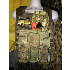 "Voodoo Multicam ICE Plate Carrier With Kangaroo Molle and (2) 10 x 12"" Certified AR500 NIJ Compliant Plates"