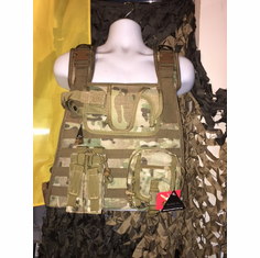 "Voodoo Multicam ICE Plate Carrier With Molle and (2) 10 x 12"" Certified AR500 NIJ Compliant Plates"