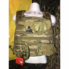 "Voodoo Multicam ICE Plate Carrier With TACO Kangaroo Molle and (2) 10 x 12"" Certified Ar500 Certified Compliant Plates"