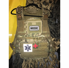 "Voodoo Multicam Medic Plate Carrier & (2) 10""x12"" Comfort Curved Plates"