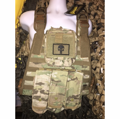 "Voodoo Multicam Punisher ICE Plate Carrier With Molle and (2) 10 x 12"" Certified AR500 NIJ Compliant Plates"