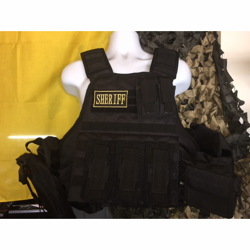 "Voodoo Sheriff ""Big Man"" Plate Carrier 2XL-5XL & (2) 10x12"" AR500 Plates"