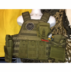 "Voodoo Tactical 3% ""Big Man"" Plate Carrier & (2) 10x12"" AR500 Plates"