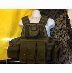 "Voodoo Tactical OD AK Admin ""Big Man"" Plate Carrier 2XL-5XL & (2) 10x12"" AR500 Plates"