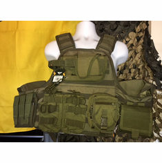 "Voodoo Tactical Horizontal Holster ""Big Man"" Plate Carrier XL-XXL & (2) 10x12"" AR500 Plates"