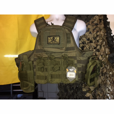 "Voodoo Tactical Kangaroo AR ""Big Man"" Plate Carrier 2XL-5XL & (2) 10x12"" AR500 Plates"