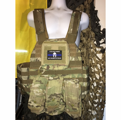 "Voodoo ""Warrior"" X-Lite Multicam Carrier & (2) 10""x12"" AR500 Comfort Curved Plates AK Flap Version"