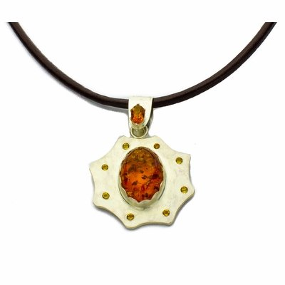 Amber and Citrine Pendant