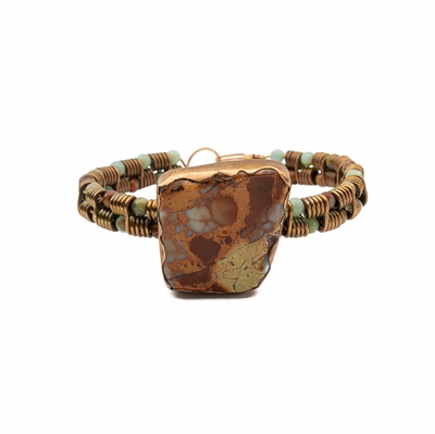 Copper Impression Jasper Focal Bracelet