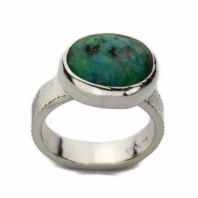 Chrysocolla East/West Ring