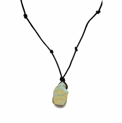 Impression Jasper and Leather Pendant Necklace