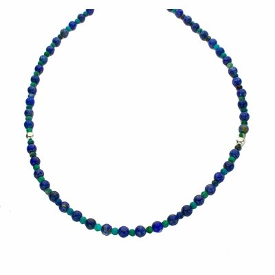 Lapis Lazuli and Chrysocolla Necklace