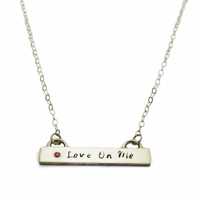 Love On Me Bar Necklace