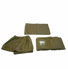 1968-1973 Volkswagen Campmobile Original Reproduction Window Curtain Set (10 Piece Curtain Set with 1-Pc Front Curtain), AW721