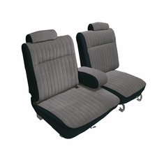 Acme U638-110 Graphite Cloth Front Bucket and Rear Bench Seat Upholstery