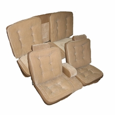1981-1988 Oldsmobile Cutlass Coupe Front 55/45 Split Bench & Rear Bench with Luxury Lumbar Cushion Seat Upholstery Kit U2107