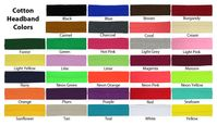 Cotton Headbands 3 Pack U Pick Colors