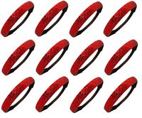 Kenz Laurenz 12 Pack Glitter Headbands Red