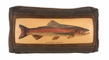 Leather Pillow - Trout