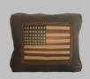 Leather Pillow - American Flag Pillow