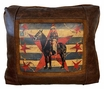 Leather Pillow - Cowgirl Flag
