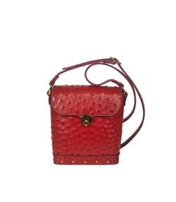 Express Small Red Ostrich