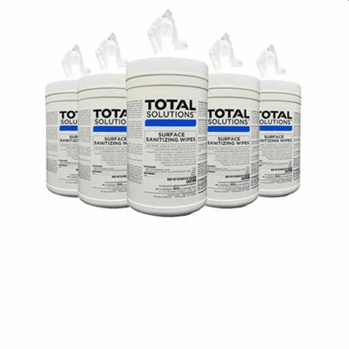 """Total Solutions Surface Sanitizing Wipes - 1 Case (6 Canisters, 6"""" x 10"""", 100 count)** CURRENTLY NOT AVAILABLE"""