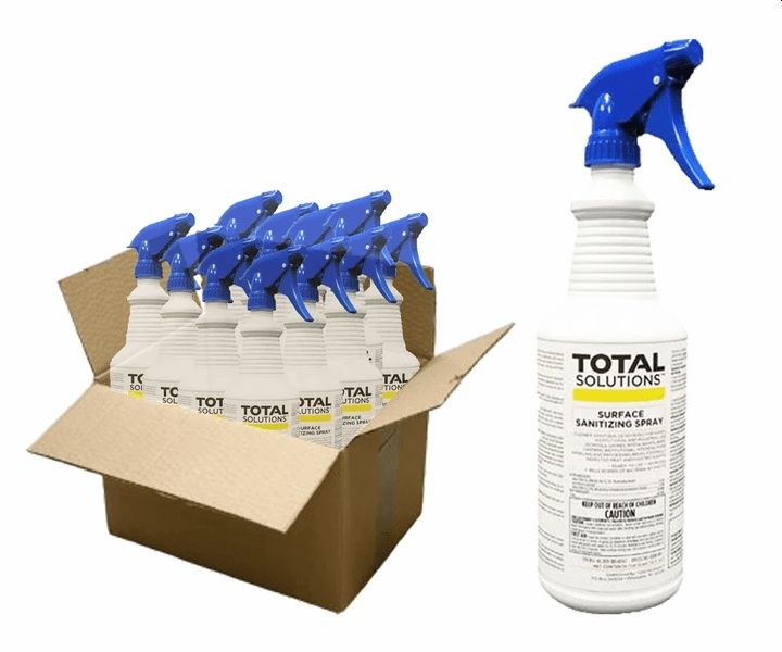 Total Solutions Surface Sanitizing Spray Case (12, 32oz Bottles) ** LIMITED AVAILABILITY COULD CAUSE DELAY **
