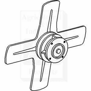 Brand New CUB Tractor Fan Assembly w/ Pulley & Spindle