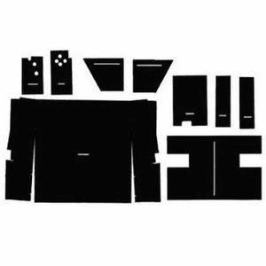Case/IH Upholstery Kit fits 1086 1486 1586 886 986 Hydro 186 Black Basket Weave