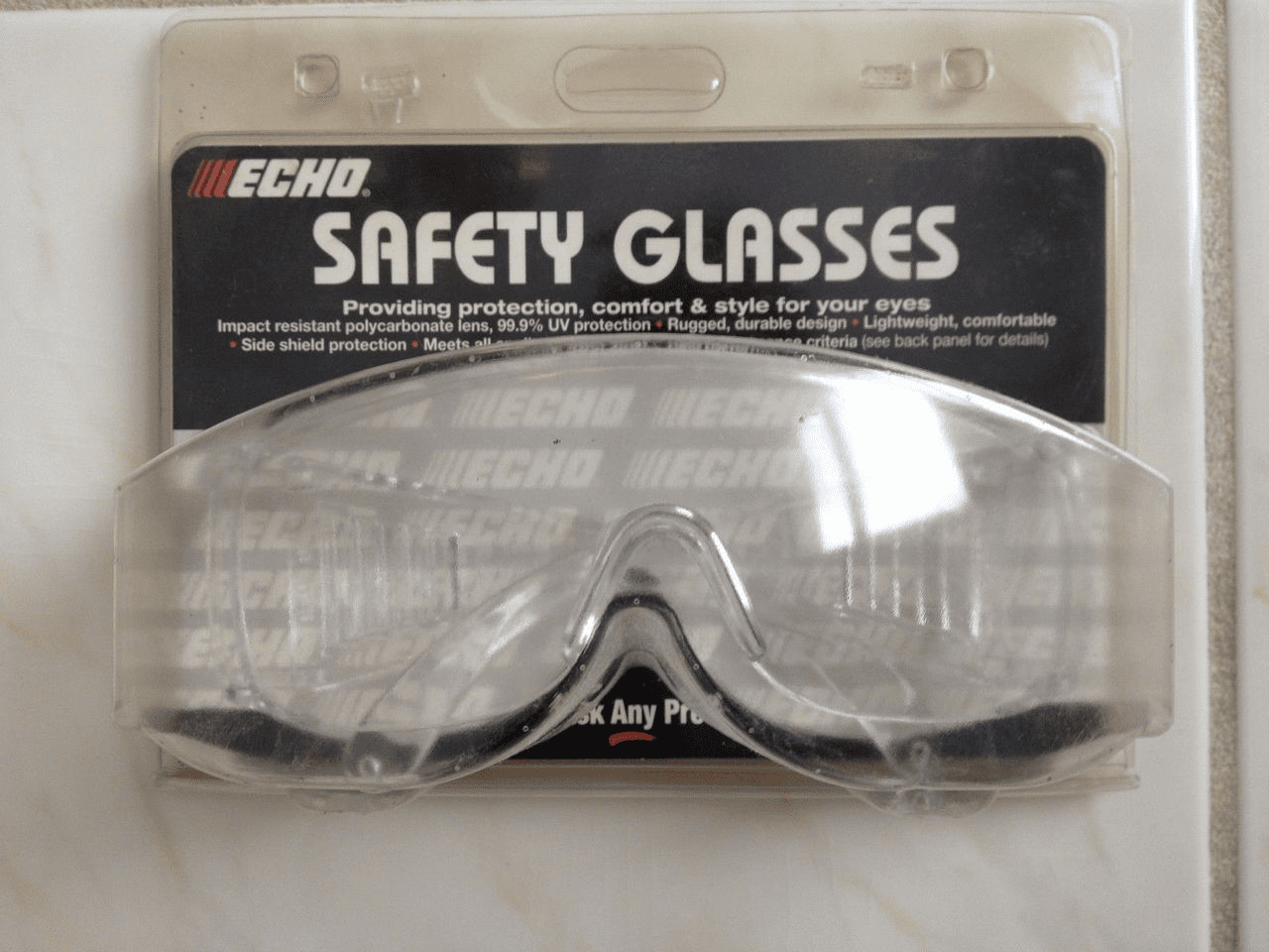 ECHO Clear Safety Glasses Unbranded  102922051