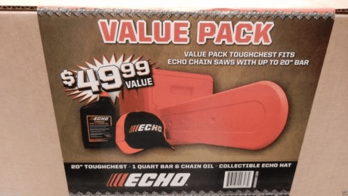 ECHO OEM Chainsaw Value Pack Includes Case, Hat, and Oil Fits Models up to 18""