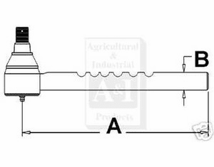 Ford Drag Link End fits 4000 4600 C5NN3A300A