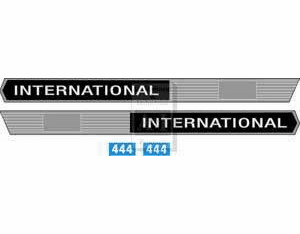 New International 444 Hood Decal Set