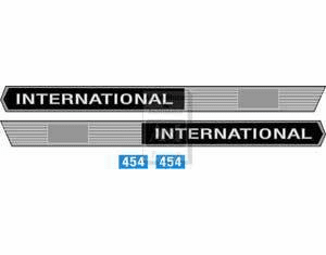 New International 464 Hood Decal Set