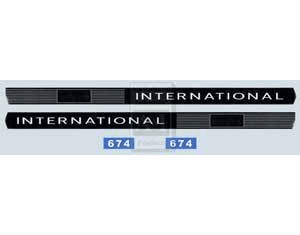 New International 674 Hood Decal Set