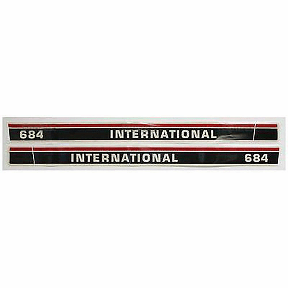 New International 684 Hood Decal Set