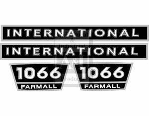 New International Hood Decal Set for Model 1066