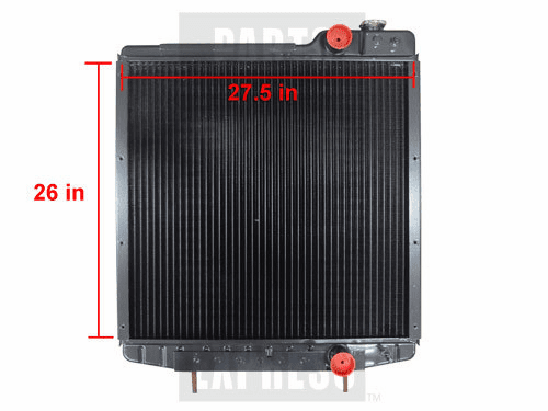 New Radiator fits Case/IH Tractors A190663