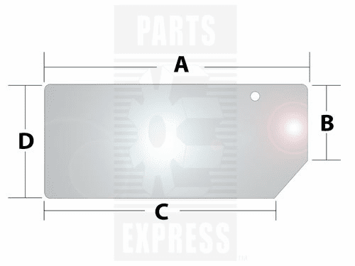 Parts Express Glass, Rear, Lower    Replaces  82000485