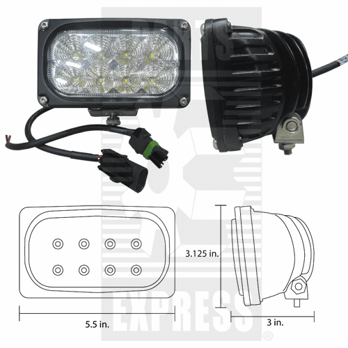 Parts Express Light, Cab, LED       Replaces  92269C1