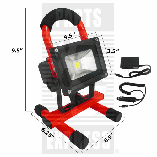 Parts Express Light, LED Work Light, Red  Replaces  WL1020R