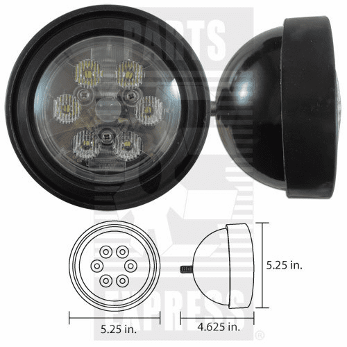 Parts Express Lights, Cab, Assembly Replaces  4020LED