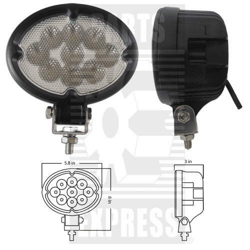 Parts Express Lights, Cab, LED      Replaces  LED-630F