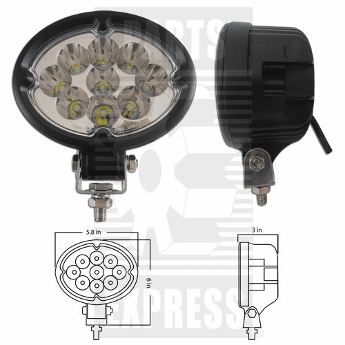 Parts Express Lights, Cab, LED      Replaces  LED-630S