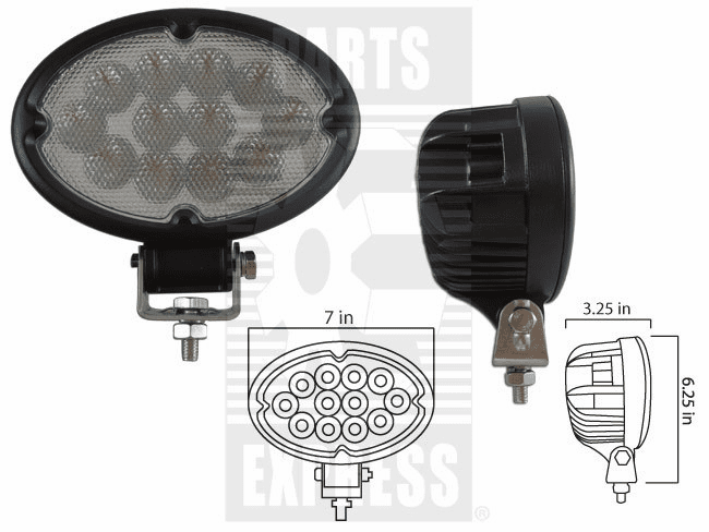Parts Express Lights, Cab, LED      Replaces  LED-640F