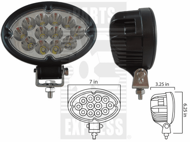 Parts Express Lights, Cab, LED      Replaces  LED-640S