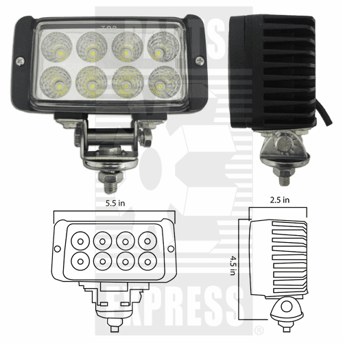 Parts Express Lights, Cab, LED      Replaces  LED-651