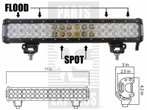 Parts Express Lights, Cab, LED      Replaces  LED-935C