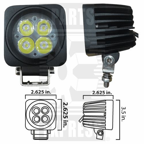 Parts Express Lights, Cab, LED      Replaces  LED104S